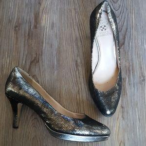 Vince camuto gun metal heels size 7